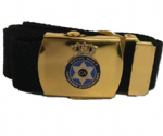 Military Style Webbing Belt and buckle badged Option